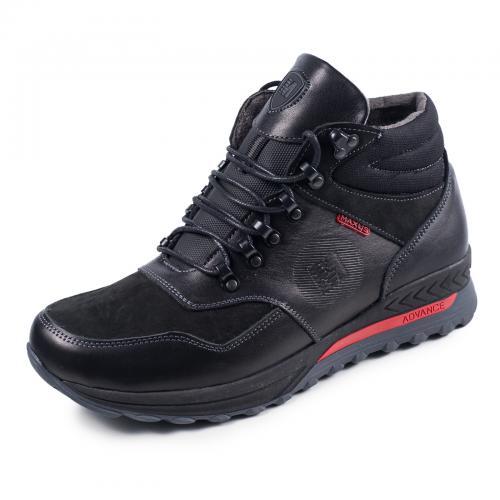 Ботинки Винтер черная кожа нубук