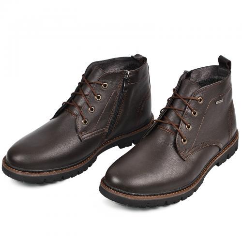 Ботинки Фешон коричневая кожа