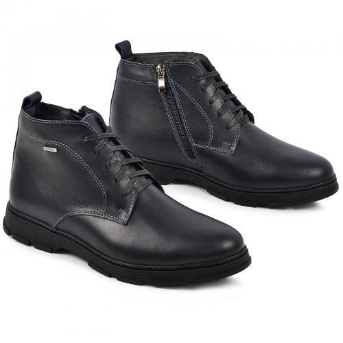 Ботинки Фешон синяяя кожа