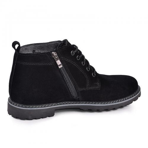 Ботинки Фешон черный замш