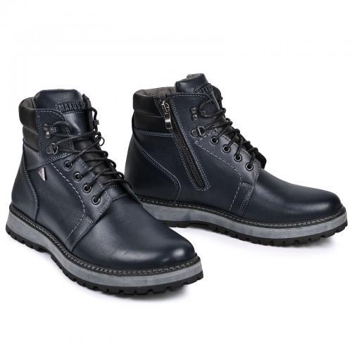 Ботинки Кет 3 синяя кожа