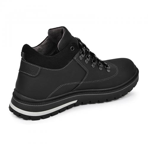 Ботинки Колумб черный флотар мат