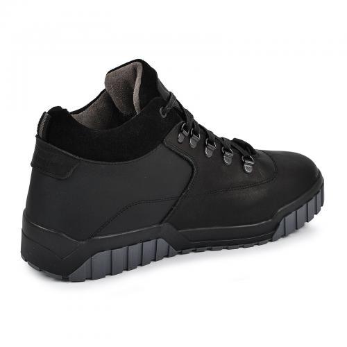 Ботинки Колумб черная кожа
