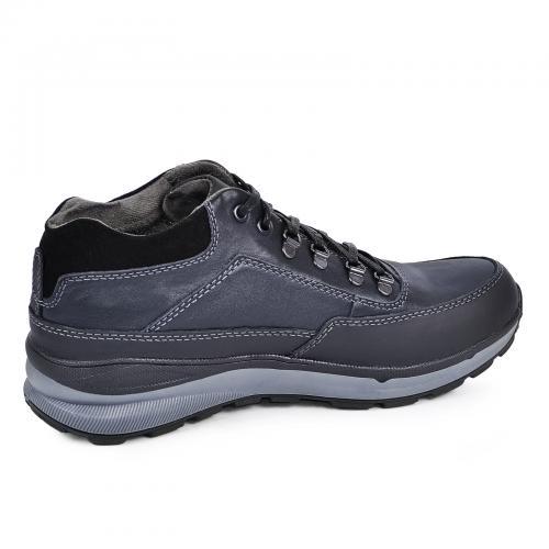 Ботинки МХ синяя кожа