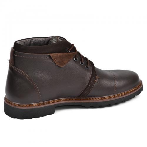 Ботинки Соло коричневая кожа