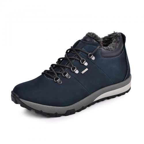 Ботинки Докер синий мат