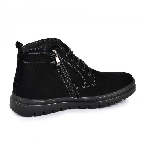 Ботинки Фешон 2 черный замш