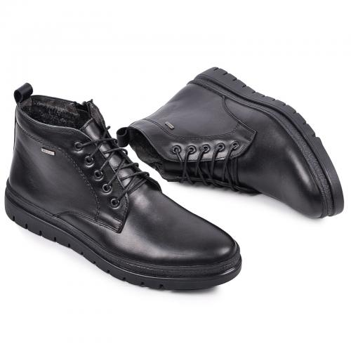 Ботинки Фешон 2 черная  кожа
