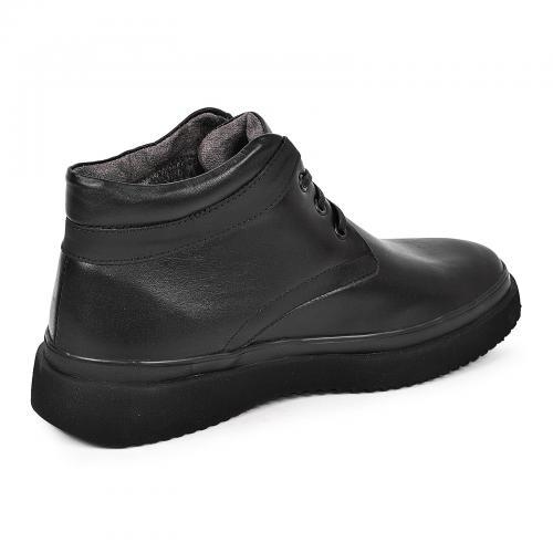 Ботинки Фози черная кожа