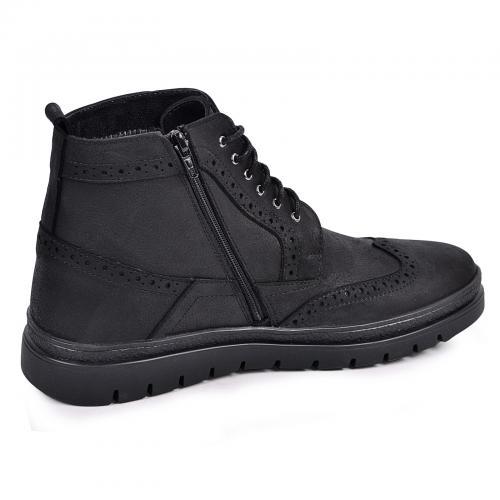 Ботинки Оксфорд черный мустанг