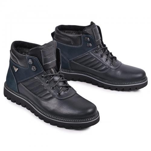 Ботинки Рибс синяя кожа