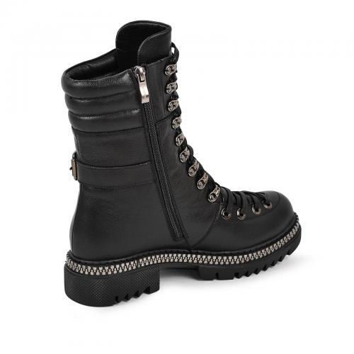 Ботинок 962 черная кожа