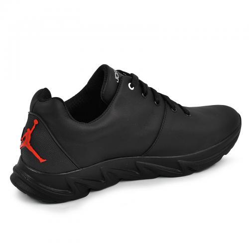 Кроссовки 20 черная/красная кожа
