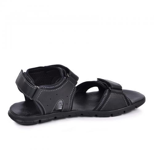 Сандали Х-6 черная кожа