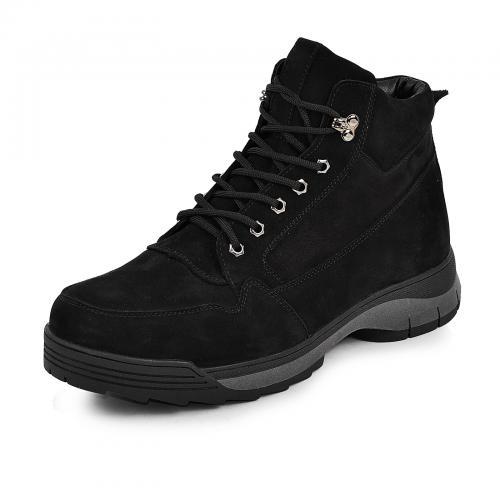 Ботинки 4007 черный замш