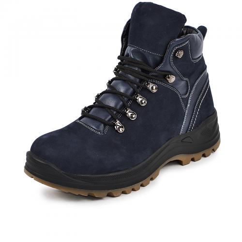 Ботинки 4001 синий замш кожа