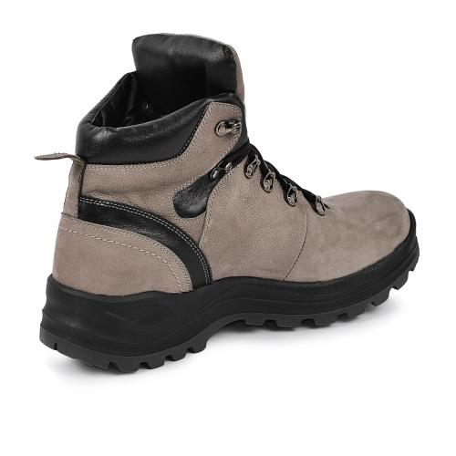 Ботинки 4001 серый нубук кожа