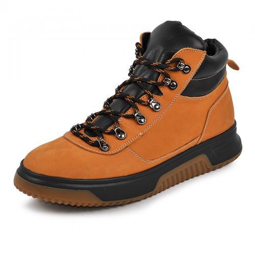 Ботинки 4006 желтый нубук