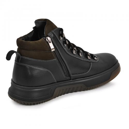Ботинки 4006 черная кожа хаки