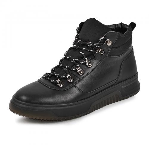 Ботинки 4006 черная кожа