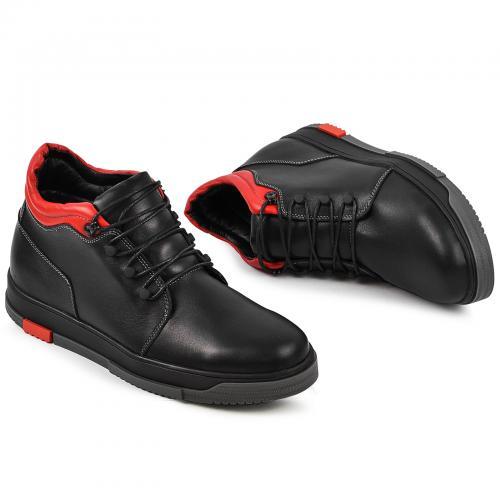 Ботинки 4004 черная кожа