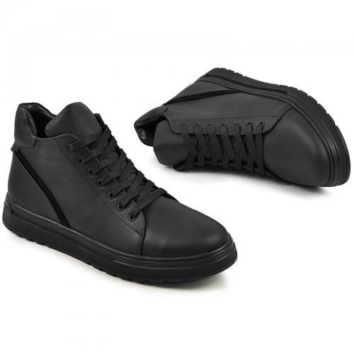 Ботинки 4010 черный флотар