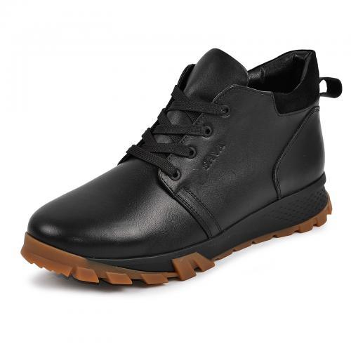 Ботинки 4011 черная кожа