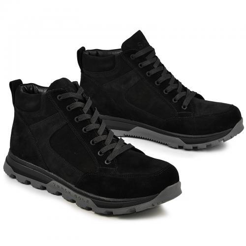 Ботинки 4012 черный нубук