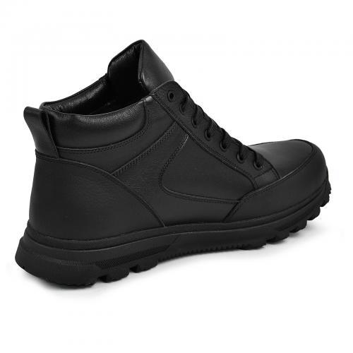Ботинки 4012 черная кожа