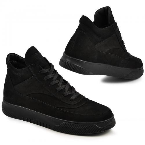 Ботинки 4014 черный нубук
