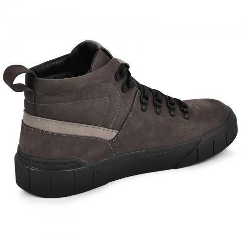 Ботинки 4015 серый нубук