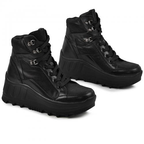 Ботинок Лура черная кожа