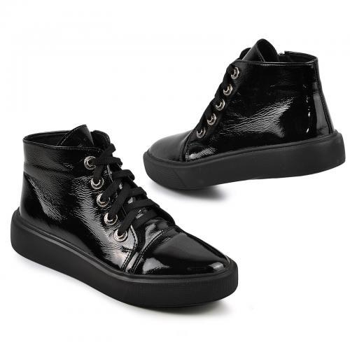 Ботинок Адель Р черный лак кожа