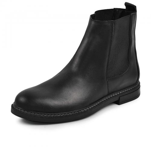 Ботинки 15 Р черная кожа