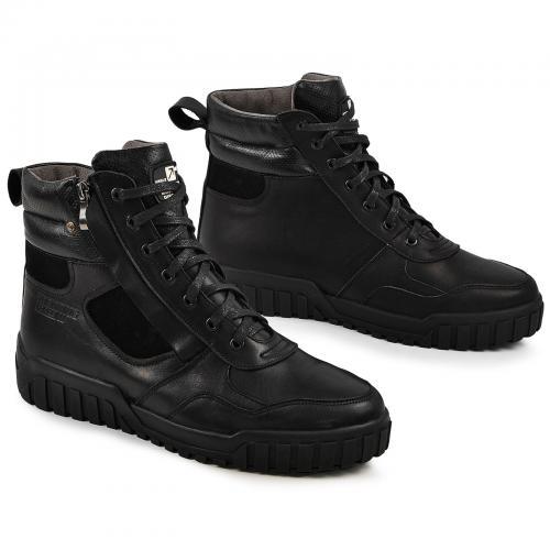 Ботинки Игл Р черная кожа замш