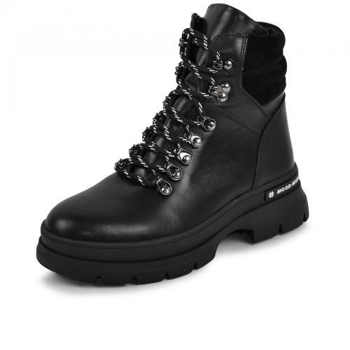 Ботинок 304 черная кожа