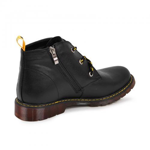 Ботинок 305 черная кожа