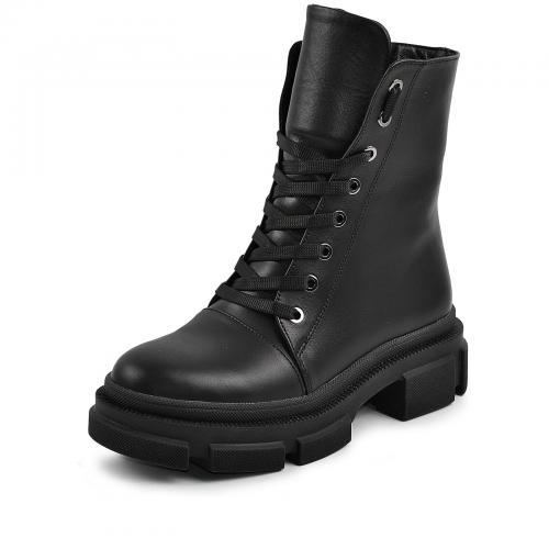 Ботинок 307 черная кожа