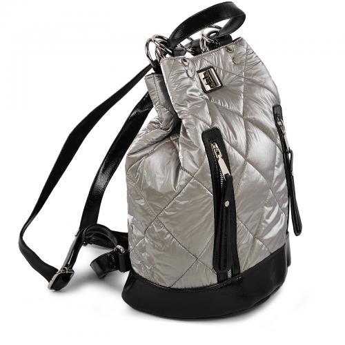 Сумка-рюкзак серебро